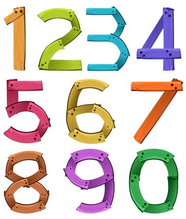 knowledge clipart: numbers zero to nine