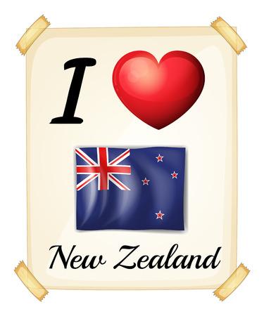 new zealand: I love New Zealand sign