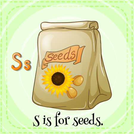 phonetic: Letter S is for seeds