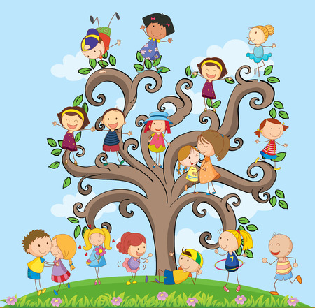 plant stand: many children on the tree
