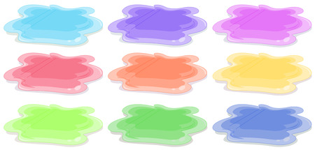 acrylic painting: Nine different colors of acrylic painting Illustration