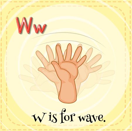 phonetic: Letter W is for wave