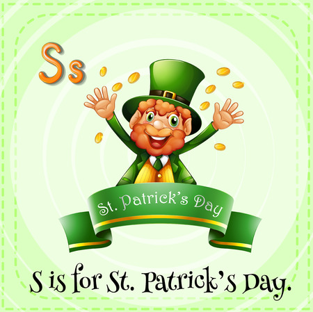 linguistic: Letter S is for St Patricks day Illustration