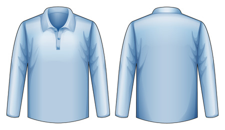 blue shirt: blue shirt front and back view