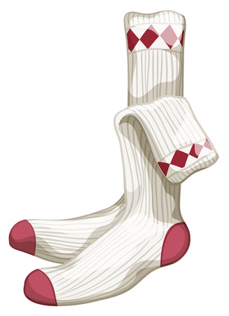 Close up a pair of socks Illustration