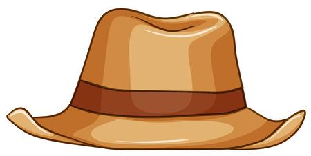 elementos de protección personal: Cierre de sombrero inconformista marrón Vectores