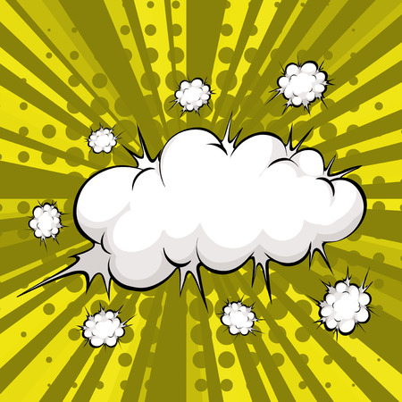bam: Cloud explosion with modern background Illustration