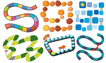 Different designs of puzzle game