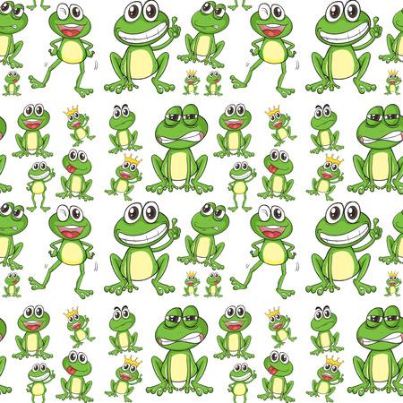 Nahtlose Frosch in vielen Positionen