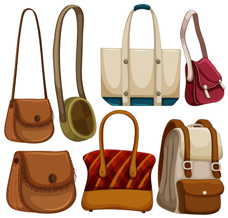 Different kind of hand bags Illustration