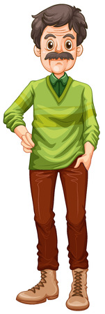 grown up: Grown up wearing sweater and boots Illustration