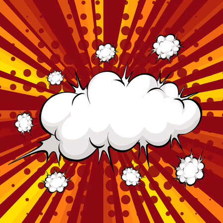 slang: Modern design of cloud explosion with writing space