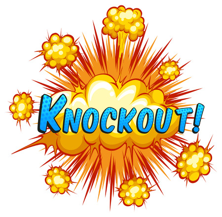 knockout: Knockout expression with cloud explosion background