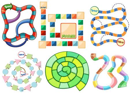 tablero: Seis plantillas diferentes de juego de puzzle