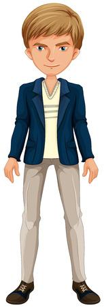 man close up: Close up man wearing a jacket Illustration