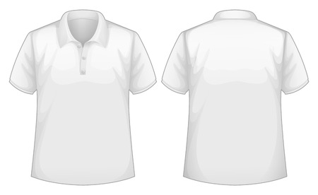 back view: Front and back view of white shirt