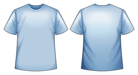 back view: Front and back view of blue shirt
