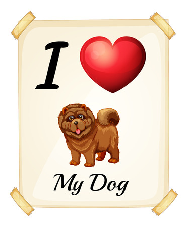 posted: I love dog sign posted on the wall
