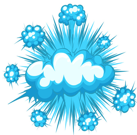 Blue clouds explosion with no text Vector