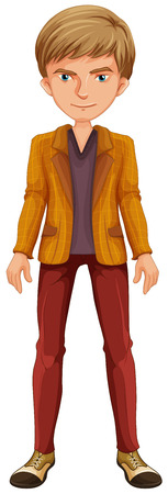 grown up: Close up man wearing a yellow jacket