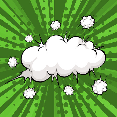 bam: Cloud explosion with abstract background