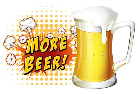 advertisement: Werbeplakat von frischen Bio-Bier Illustration