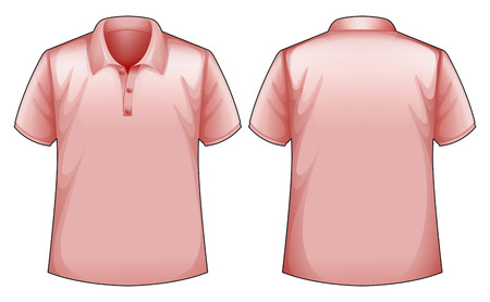 back view: Pink shirt front and back view