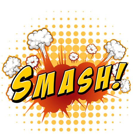 wording: Word smash with explosion background
