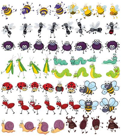 Verschiedene Arten von kleinen Insekten Standard-Bild - 37817961