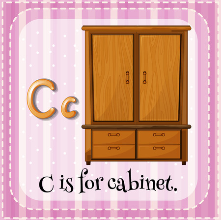 uppercase: Flash card letter C is for cabinet