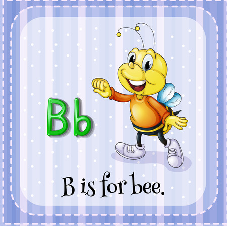 flash card: Flash card letter B is for bee