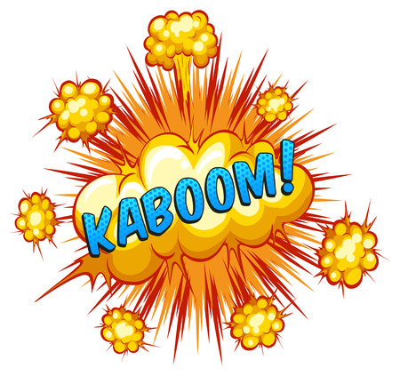 kaboom: Word kaboom with explosion background