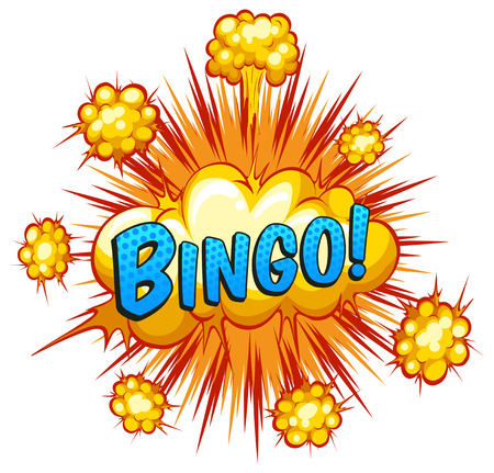 bingo: Word bingo with cloud explosion background