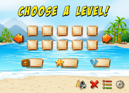 educated: Game template with ocean and beach background