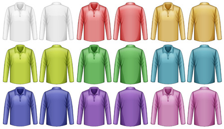 sleeves: Different colors of long sleeves shirt Illustration