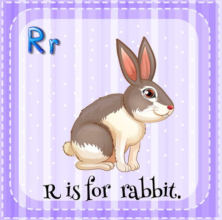 flash card: Flash card letter R is for rabbit