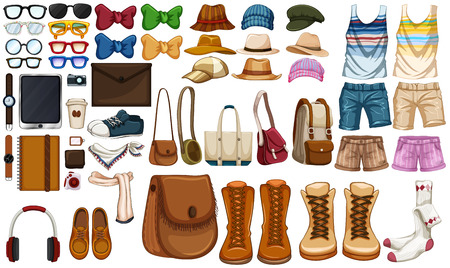 Different type of hipster accessories