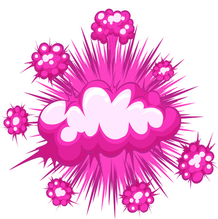 bam: Pink cloud explosion with writing space