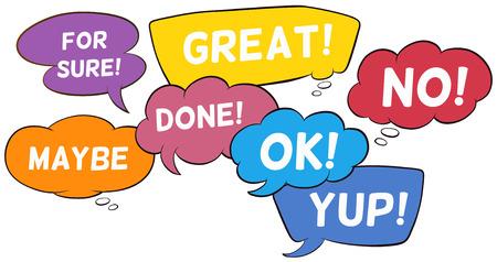 comunicacion oral: Redacción diferente en el discurso burbujas