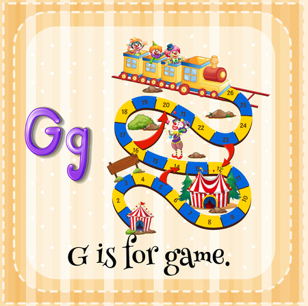 linguistic: Flashcard letter G is for game