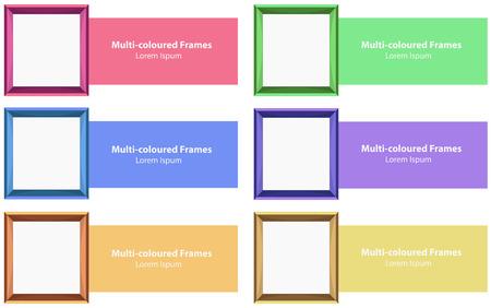 color photo: Six different color photo frames