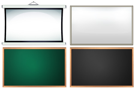 Four different board and frames