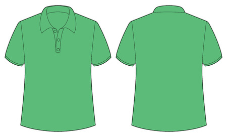 button up shirt: Front and back view of green shirt