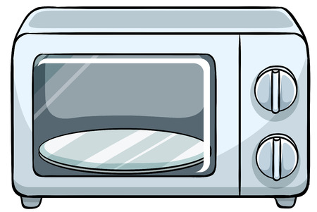 Close up small microwave oven Vector