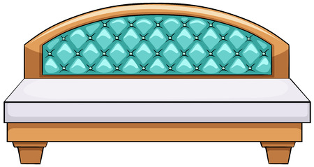 Close up luxury king side bed Vector