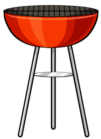 barbecue stove: Close up outdoor barbecue stove Illustration