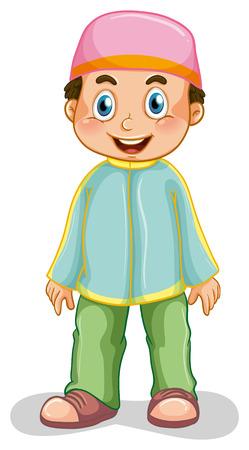 alone boy: Close up muslim boy standing alone