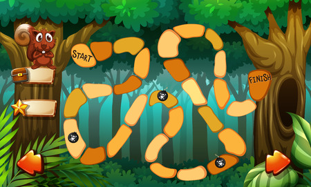game graphics: Game template with forest background
