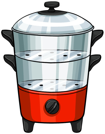 double boiler: Close up steamer in double layers