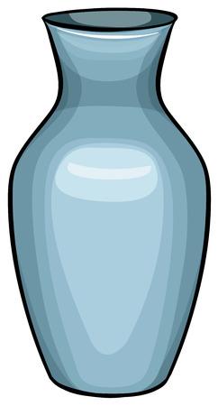 ceramic: Cierre de jarr�n de cer�mica azul